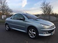 2004 PEUGEOT 206 CC CONVERTIBLE ** ONLY 58K GENUINE MILES** FULL LEATHER, GEARBOX & CLUTCH CHANGE