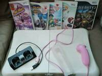 Wii board and accessories plus games