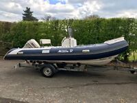 5.2 meter rib, 50 hp outboard engine