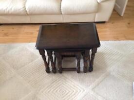 Priory Dark Oak Nest of Tables