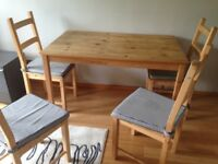 Selling dining table + chairs