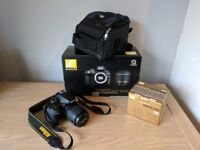 Nikon D3400 DSLR Camera 4 months old, barely used, fully boxed, includes 32gb SD card and carry case