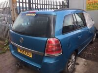 Vauxhall Zafira 2006 petrol new shape - Parts Available