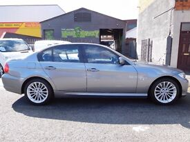 NO VAT 58 plate BMW 320 manual se with F/S/H 4 doors black leather seats MOTd. Finance available