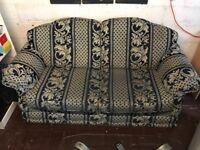 Three piece fabric sofa suite