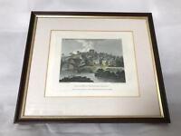 Vintage Usk Castle print c1796