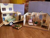 Sylvanian Families hospital, ambulance and vegetable garden