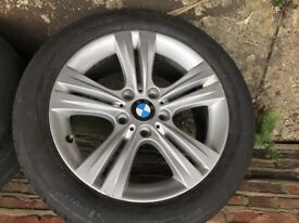 """GENUINE BMW 3 SERIES 17"""" f30 F31 Tyre alloy wheels Style 392 Size 225 50 17"""