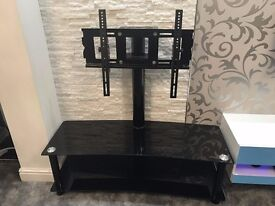 """Black Gloss fixed tv stand + bracket. Can hold tv size up to 55"""""""