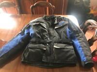 Scotchlite men's motorbike all weather jacket size large