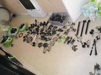 Job lot mountain bike parts.