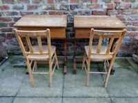 School desk and chair, a pair or separately
