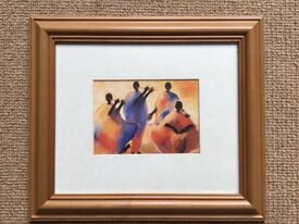 Set of 6 framed prints - African theme