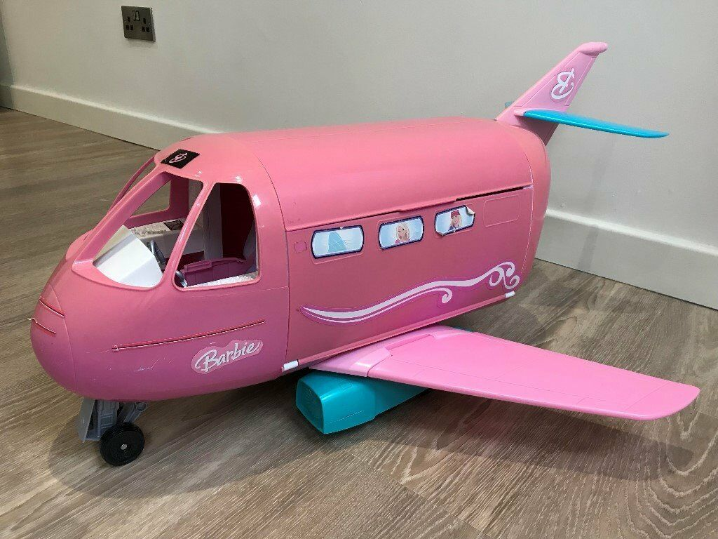 e1719a71268 Barbie Glamour Jet Large Pink Blue Private Plane And Accessories. (used