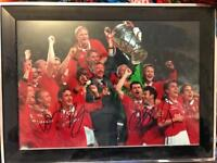 Signed photograph of Manchester United 1999