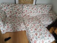 2 Seater ikea Sofa with Chaise Lounge