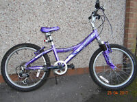 girls mountain bike 6-11 yrs