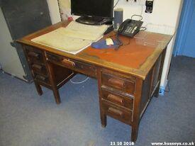 2 smaller desks in oak approx 1930's