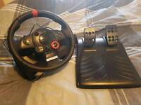 Logitech DFGT gaming wheel force feedback