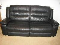 Black Leather 3 seater 2 seater 1 chair