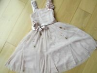GIRLS NEXT SIGNATURE OCCASION DRESS ~ AGE 3 ~ PINK ORGANZA & SEQUIN ~ EX. COND ~ £3