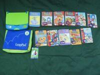 Leapfrog Leap Pad Learning system + Books - Disney Toy Story, Thomas Tank, Spideman et