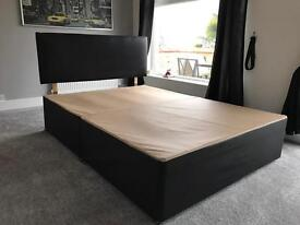 Faux Leather Double Divan Bed Frame