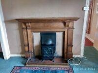 Antique/ Victorian wooden Fire surround