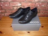 New Black Ladies ecco Shoes Size UK 7