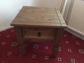 Vintage wooden table with draw