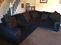 Left Hand Facing Corner Sofa & Reclining Chair
