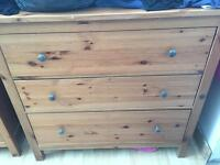 Chest of drawers matching side cabinets