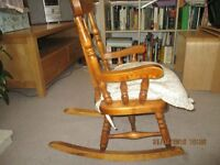 child's 2-6 y.o. wooden rocking chair £20