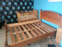 solid pine double bed excellent condition