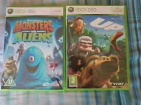 Monsters vs aliens and disney pixar up xbox 360