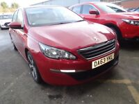 PEUGEOT 308 1.6 HDi 115 Active 5dr (red) 2013