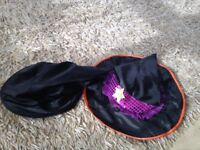 2 x halloween witches hats 5-6 years