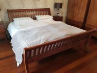 Real dark wood, quality bedroom furniture in great condition