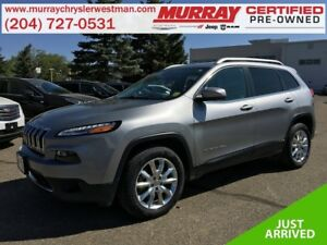 2016 Jeep Cherokee Limited 4WD *Nav* *Backup Cam* *Heat/Cool Lea