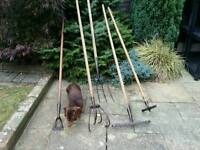 Wonderful Antique Garden Tools £ 65!