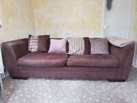 Large Dunelm Mill Sofa Plus Storage Footstool