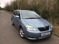 2002 Toyota Corolla 1.6 VVT-i T Spirit 5dr Automatic 12 Months