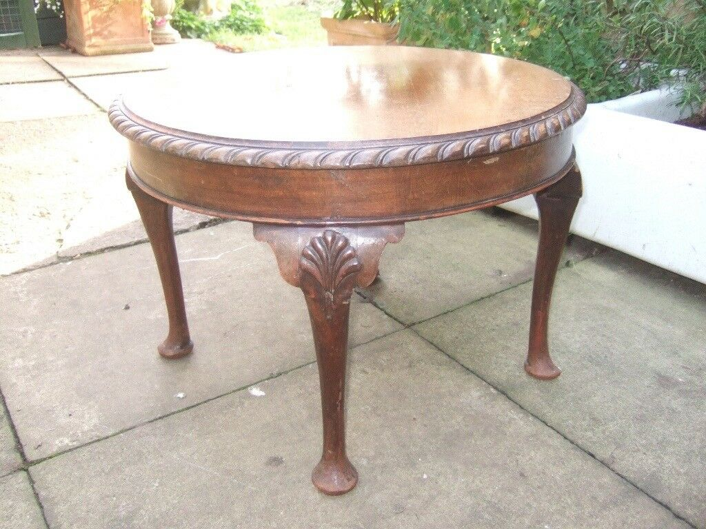 Shabby chic project? ANTIQUE VICTORIAN VERY ORNATE COFFEE, SIDE TABLE