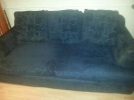 CHEAP;; SOFA WITH COMPLETELY REMOVABLE COVERS,FEATHER FILLED, & BASE COMES APART FOR EASY ACCESS.