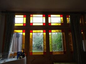 Stain glass door and windows