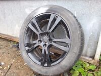 "Seat Ibiza 16"" Alloys in Black with Almost new tyres"