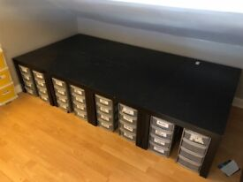 IKEA 8 Black LACK tables. good condition. Used to create table to display lego.