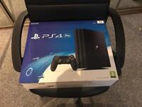 Good as New!!!JET BLACK Sony PS4 Pro 1TB Console with Extras..
