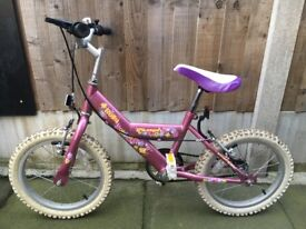 "Triumph ""Bella"" girls pink bike 16 inch"