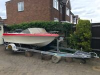 1600kg Galvanised 21ft Boat Trailer & boat